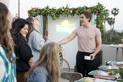 (L-R) Antoinette Bueno, Rachel Sanoff and Antoni Porowski as Boursin and Antoni Porowski Host Farm Fresh Fete Entertaining Evening at a Private Residence on April 24, 2019 in Los Angeles, California.