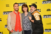 "Lance Bass, Diane Bass, and Joey Fatone attend the ""The Boy Band Con: The Lou Pearlman Story"" Premiere - 2019 SXSW Conference and Festivals at Paramount Theatre on March 13, 2019 in Austin, Texas."