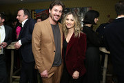 """Landon Beard and Vanessa Ray attend """"The Boy Who Harnessed The Wind"""" Special Screening hosted by Angelina Jolie at Crosby Street Hotel on February 25, 2019 in New York City."""