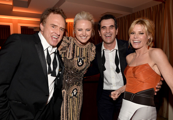 The Weinstein Company & Netflix's 2014 SAG After Party In Partnership With Laura Mercier [weinstein company,sag after party in partnership,netflix,l-r,event,fashion,formal wear,suit,fun,smile,dress,tuxedo,laura mercier,actors,julie bowen,malin akerman,ty burrell,bradley whitford]