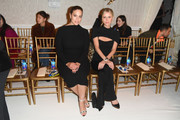 Ashley Graham and Nicky Hilton Rothschild attend the Brandon Maxwell front row during New York Fashion Week: The Shows at Penn Plaza Pavilion on February 9, 2019 in New York City.