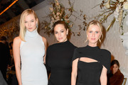 (L-R) Karlie Kloss, Ashley Graham and Nicky Hilton Rothschild attend the Brandon Maxwell front row during New York Fashion Week: The Shows at Penn Plaza Pavilion on February 9, 2019 in New York City.