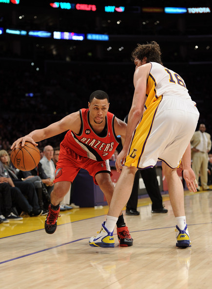 Brandon Roy and Pau Gasol - Portland Trail Blazers v Los Angeles Lakers