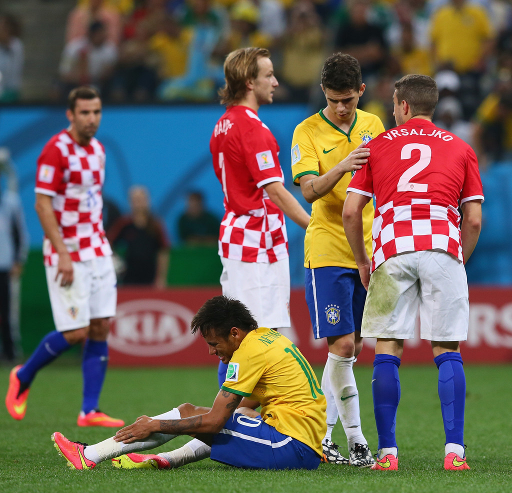Ivan Rakitic and Neymar s s Brazil v Croatia Group A