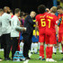 Axel Witsel Kevin De Bruyne Photos - Roberto Martinez, Head coach of Belgium speaks to his players during the 2018 FIFA World Cup Russia Quarter Final match between Brazil and Belgium at Kazan Arena on July 6, 2018 in Kazan, Russia. - Brazil vs. Belgium: Quarter Final - 2018 FIFA World Cup Russia