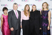 (L-R) Myra Biblowit, William P. Lauder, Nina García, Donna Karan, and Kinga Lampert attend the Breast Cancer Research Foundation (BCRF) New York symposium & awards luncheon on October 17, 2019 in New York City.