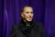 Donna Karan speaks onstage during the Breast Cancer Research Foundation (BCRF) New York symposium & awards luncheon on October 17, 2019 in New York City.