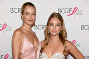 Carolyn Murphy (L) and Danielle Lauder attend the Hot Pink Party hosted by the Breast Cancer Research Foundation at Park Avenue Armory on May 15, 2019 in New York City.