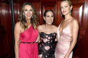 Elizabeth Hurley, Jane Hudis and Carolyn Murphy attend the Hot Pink Party hosted by the Breast Cancer Research Foundation at Park Avenue Armory on May 15, 2019 in New York City.