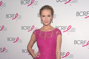 Miss USA 2015 Olivia Jordan walks the red carpet at the Breast Cancer Research Foundation's Hot Pink Party at the Waldorf Astoria Hotel on April 12, 2016 in New York City.