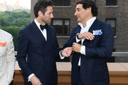 """Actor Ian Bohen (L) and Owner of Duca Sartoria Max Girombelli attend the Breguet """"Classic Tour"""" at Carnegie Hall on July 12, 2018 in New York City."""