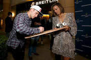 Breitling Ambassador and Motorcross racer Ken Roczen and `Professional surfer Sally Fitzgibbons attend the Breitling Boutique San Diego grand opening celebration on February 05, 2020.