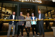 Westime President Greg Simonian, Breitling Ambassador and Motorcross racer Ken Roczen, Professional surfer Sally Fitzgibbons, Professional skateboarder Ryan Sheckler and Breitling USA President Thierry Prissert attend the Breitling Boutique San Diego grand opening celebration on February 05, 2020.
