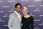 Natascha Gruen and her boyfriend Param Multani during the Breitling Roadshow '#LEGENDARYFUTURE' Navitimer 8 at Freiheizhalle on February 20, 2018 in Munich, Germany.