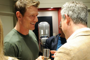 Actor Philip Winchester (L) and Co-Founder Bremont Watch Company Giles English attend Bremont Watches NYC Boutique opening with unveiling of America's Cup at Bremont Boutique on June 23, 2015 in New York City.