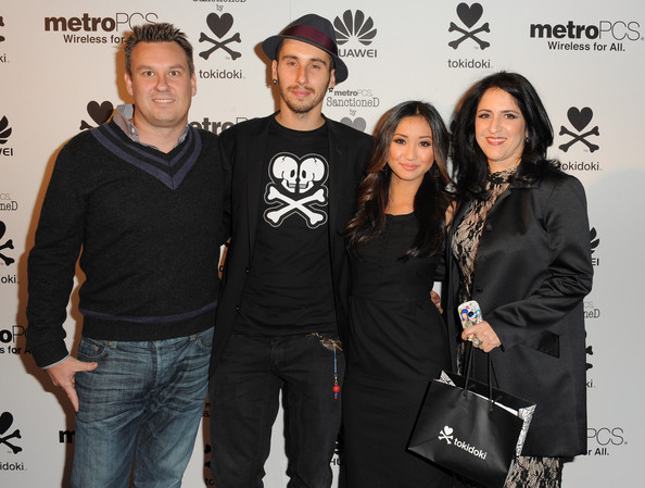 Brenda Song tokidoki President Ivan Arnold, Event co-host, tokidoki chief creative officer Simone Legno, Event co-host, actress Brenda Song and tokidoki chief operating officer Pooneh Mohajer attend the launch of the MetroPCS Huawei M835 sanctioned by tokidoki at the tokidoki flagship store on November 3, 2011 in Los Angeles, California. Phones will be available in retail stores on November 18, 2011. 15% of all sales from the evening went to 1love.org, benefiting random acts of kindness everywhere.
