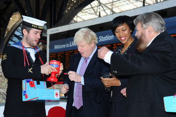 Brian Blessed Boris Johnson Launches London Poppy Day