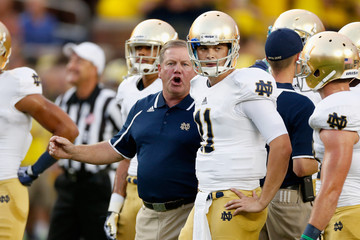 Brian Kelly Tommy Rees Notre Dame v Michigan
