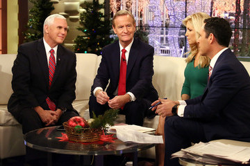Brian Kilmeade Vice President-Elect Mike Pence Visits 'Fox & Friends'