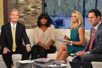 Brian Kilmeade Octavia Spencer Visits 'FOX & Friends'