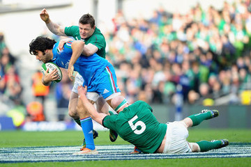 Brian O'Driscoll Paul O'Connell Ireland v Italy - RBS Six Nations