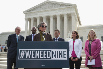 Brian Schatz Senate Democrats and Environmentalists Call On GOP to Act on Obama's Supreme Court Nomination
