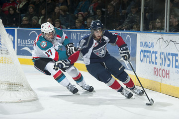 Brian Williams Tri-City Americans v Kelowna Rockets