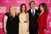 """Rebel Wilson, Kristen Wiig, Paul Feig and Rose Byrne arrive at """"Bridesmaids"""" Celebrity Girls Night Out to celebrate the Australian premiere at Event Cinemas George Street on June 14, 2011 in Sydney, Australia."""