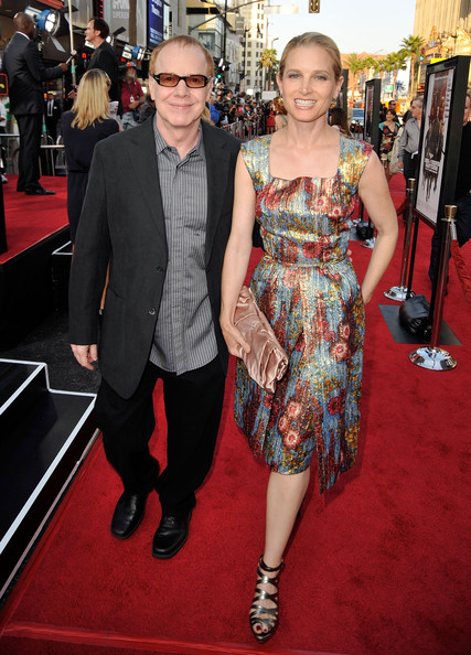 Bridget Fonda with cool, Husband Danny Elfman