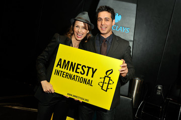 Bridget Moynahan Backstage at the Amnesty International Concert