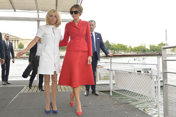 Brigitte Macron Melania Trump Is Seen on an Official Visit to Paris : Day One