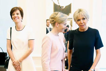 Brigitte Macron Visit of the Partners of the Heads of State and Government at Delvaux Le 27