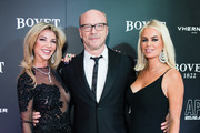 (L-R) Lisa Tchenguiz, Paul Haggis and Caroline Stanbury attend the 'Brilliant Is Beautiful' gala held at Claridge's Hotel on December 1, 2017 in London, England.