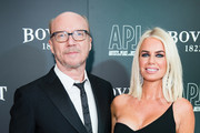 (L-R) Paul Haggis and Caroline Stanbury attend the 'Brilliant Is Beautiful' gala held at Claridge's Hotel on December 1, 2017 in London, England.