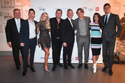 (L-R) Eamonn Holmes, Russell Kane, Una Healy, Shane Richie, Gary Lineker, John Bishop, Michelle Keegan and Vernon Kay attend British Airways champagne reception to celebrate the airline raising £20 million for Comic Relief, through it's charity Flying Start, at the Science Museum on November 15, 2018 in London, England.