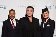 Shane Richie (C) attends British Airways champagne reception to celebrate the airline raising £20 million for Comic Relief, through it's charity Flying Start, at the Science Museum on November 15, 2018 in London, England.