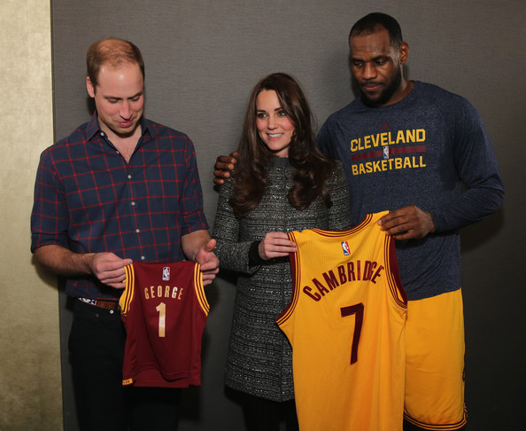 LeBron James Gave William and Kate a Tiny Jersey for Prince George