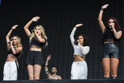 Jade Thirlwall; Perrie Edwards;Leigh-Anne Pinnock and Jesy Nelson of Little Mix performs on stage at British Summer Time Festival at Hyde Park on July 13, 2014 in London, United Kingdom.