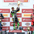Leon Haslam Photos - Leon Haslam of Great Britain and JG Speedfit Kawasaki celebrates on the podium after winning the British Superbike Championship on the National Circuit at Silverstone on September 9, 2018 in Northampton, England. - British Superbike Championship - Silverstone