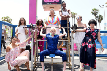 Britney Young Kimmy Gatewood Netflix Original Series 'GLOW' '80s Takeover Of Muscle Beach