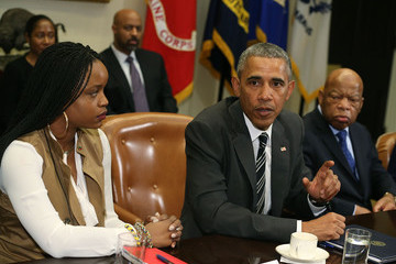 Brittany Packnett Obama Meets With African American Faith and Civil Rights Leaders