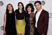 """Lucia Aniello,Abbi Jacobson, Ilana Glazer and Paul W. Downs attend the """"Broad City"""" Screening - 2016 Tribeca Film Festival at Festival Hub on April 17, 2016 in New York City."""