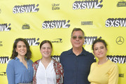 """(L-R) Actress Ilana Glazer, Sarah Babineau of Comedy Central, President of Comedy Central, Paramount Network, and TV Land Kent Alterman, and actress Abbi Jacobson attend the premiere of the """"Broad City"""" series finale at ZACH Theatre on March 10, 2019 in Austin, Texas."""