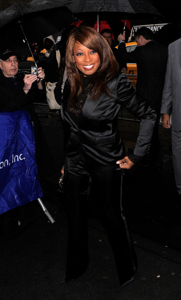 "Media personality Star Jones poses for a photo on the red carpet at the Broadway Opening of ""Fences"" at the Cort Theatre on April 26, 2010 in New York City."