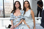 Actors Rainey Qualley (L) and Angela Sarafyan attend the Brock Collection front row during New York Fashion Week: The Shows at Gallery I at Spring Studios on February 8, 2019 in New York City.