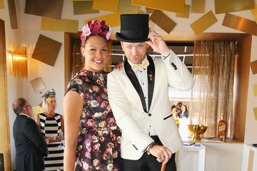 Brodie Young Celebs Attend Melbourne Cup Day