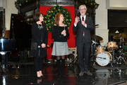 (L-R) Emilie Antonetti, Marlo Thomas and Debra Del Vecchio soeak onstage during the Brooks Brothers And St Jude Children's Research Hospital Annual Holiday Celebration In New York City on December 18, 2018 in New York City.