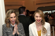 """TV personality Keltie Knight (L) and actress Becca Tobin attend """"Le Casino"""" night hosted by Brooks Brothers in Beverly Hills to benefit UCLA Jonsson Cancer Center Foundation on January 25, 2017 in Beverly Hills, California."""