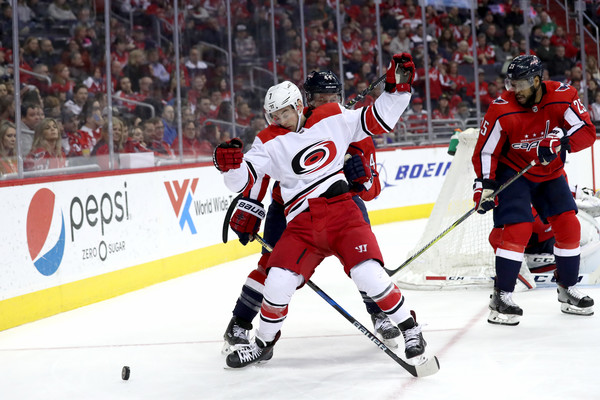 Brooks Orpik Derek Ryan Photos - Carolina Hurricanes vs  Washington