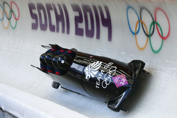 Bruce Tasker Bobsleigh - Winter Olympics Day 16